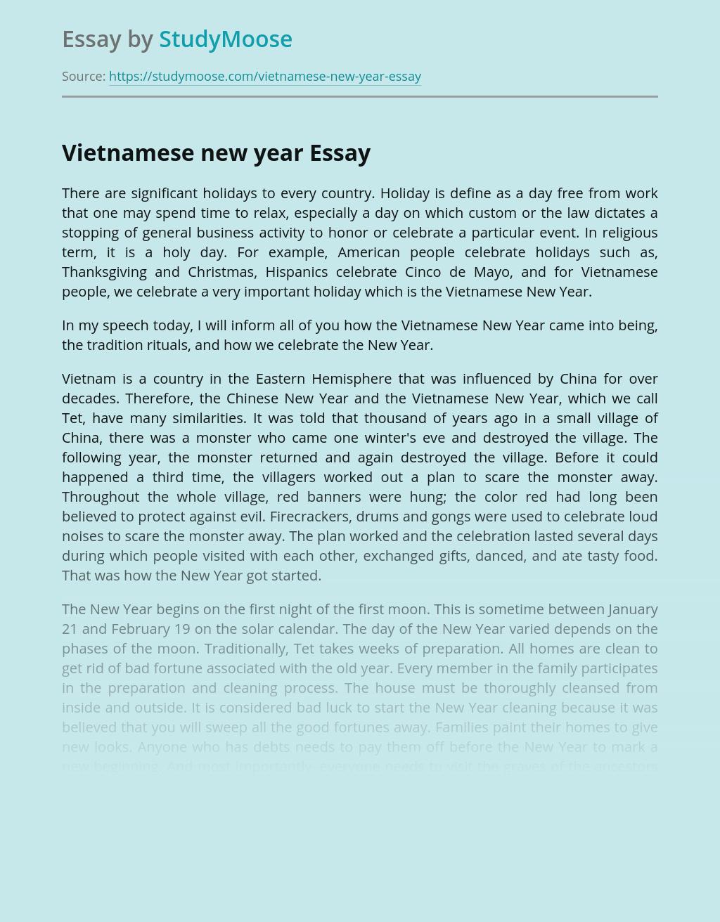 Vietnamese New Year Celebration