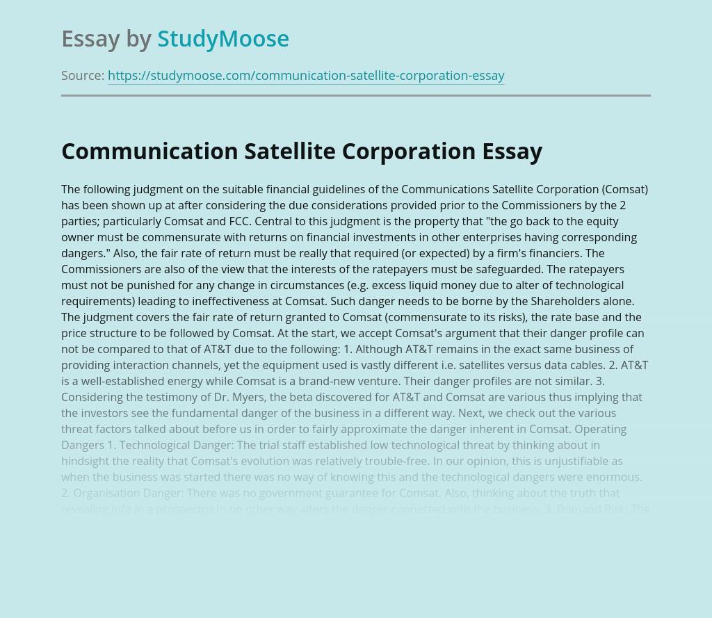 Communication Satellite Corporation