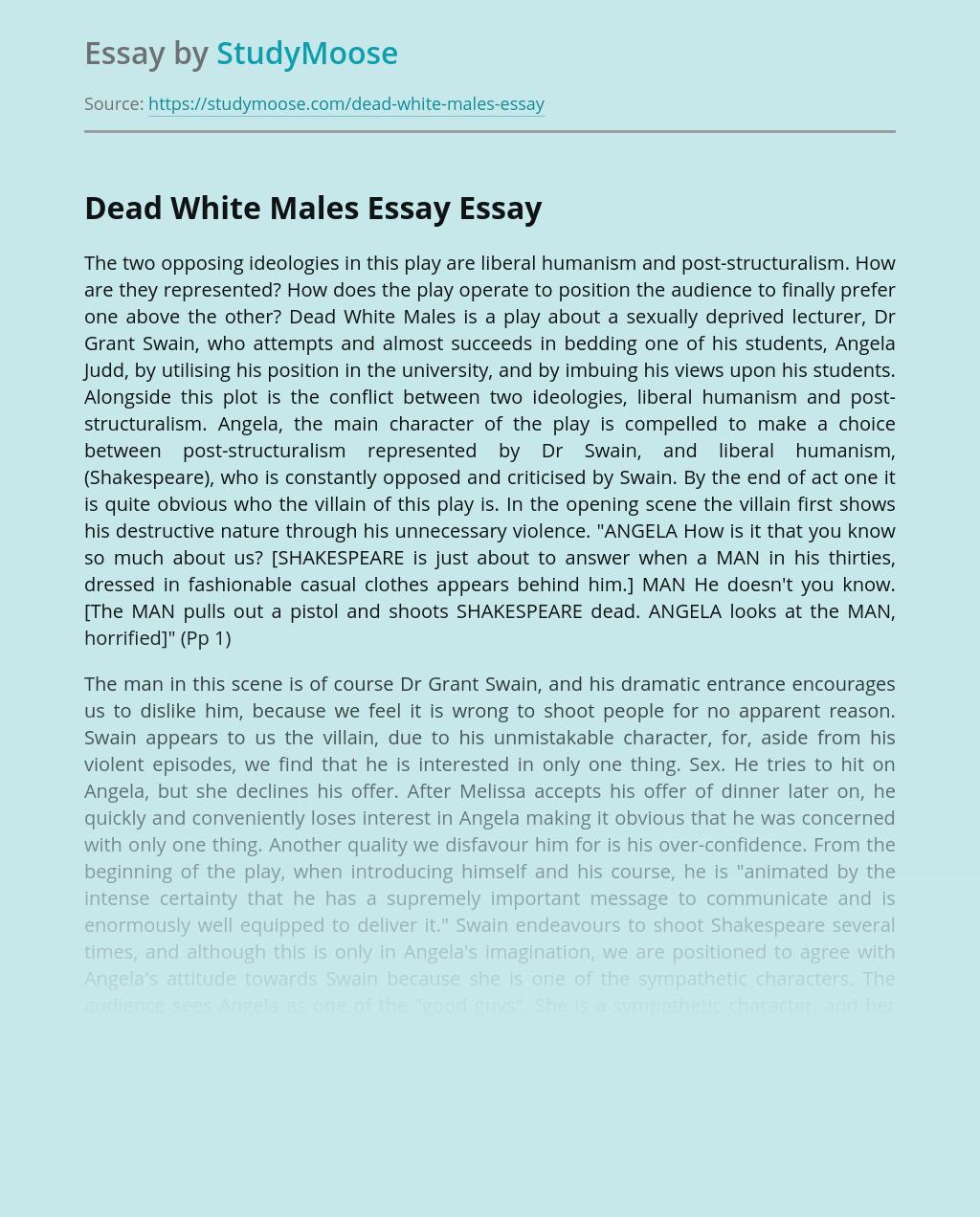 Dead White Males Essay