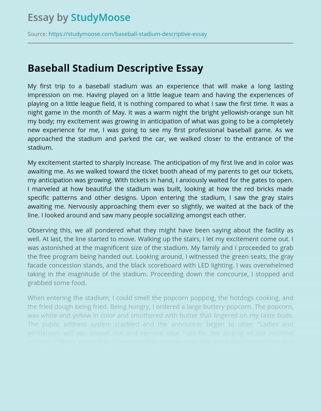 Baseball Stadium Descriptive