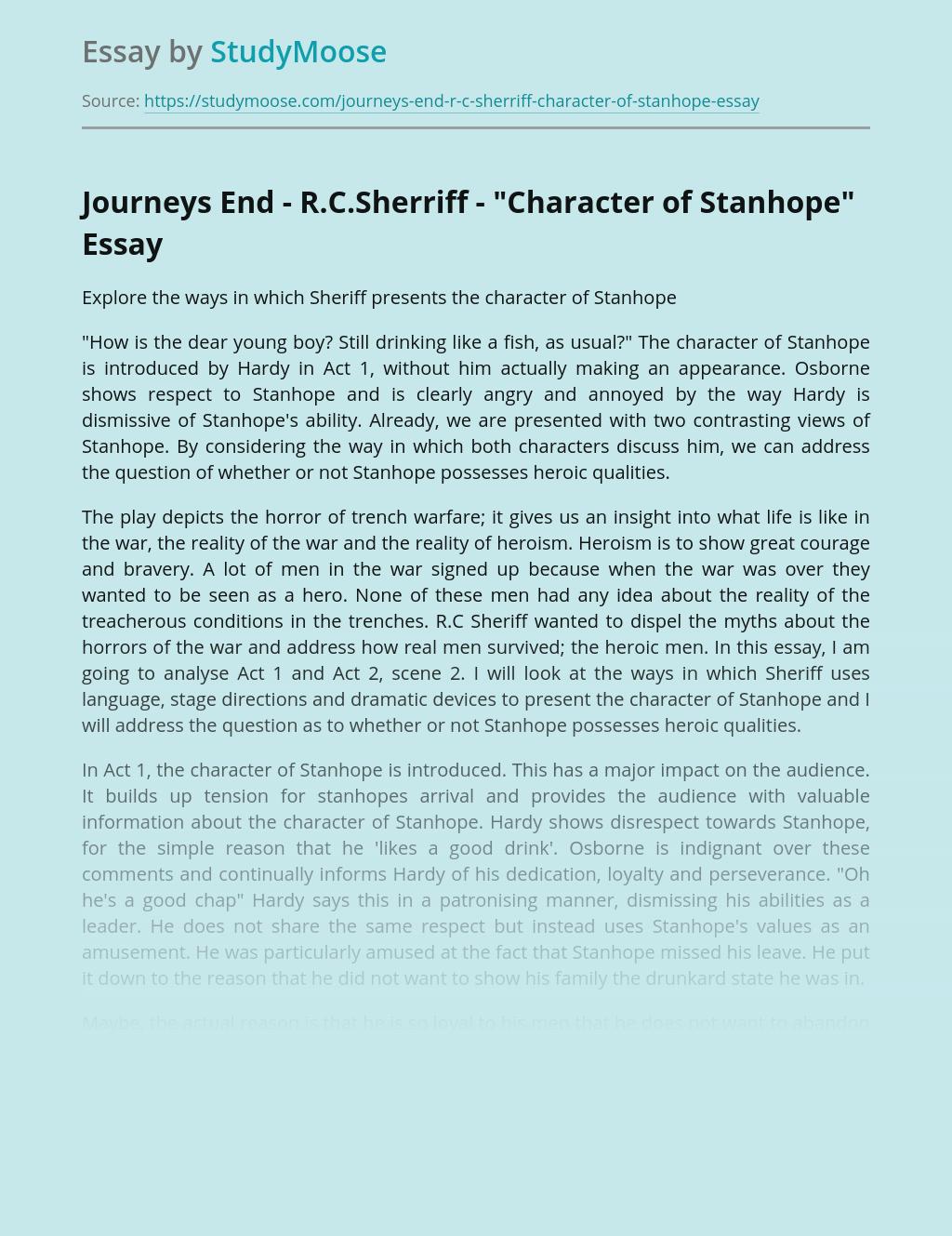 Journeys End - R.C.Sherriff -