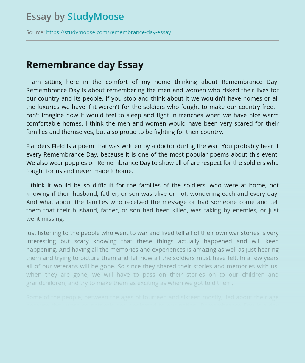 Remembrance day essay help with my sociology thesis