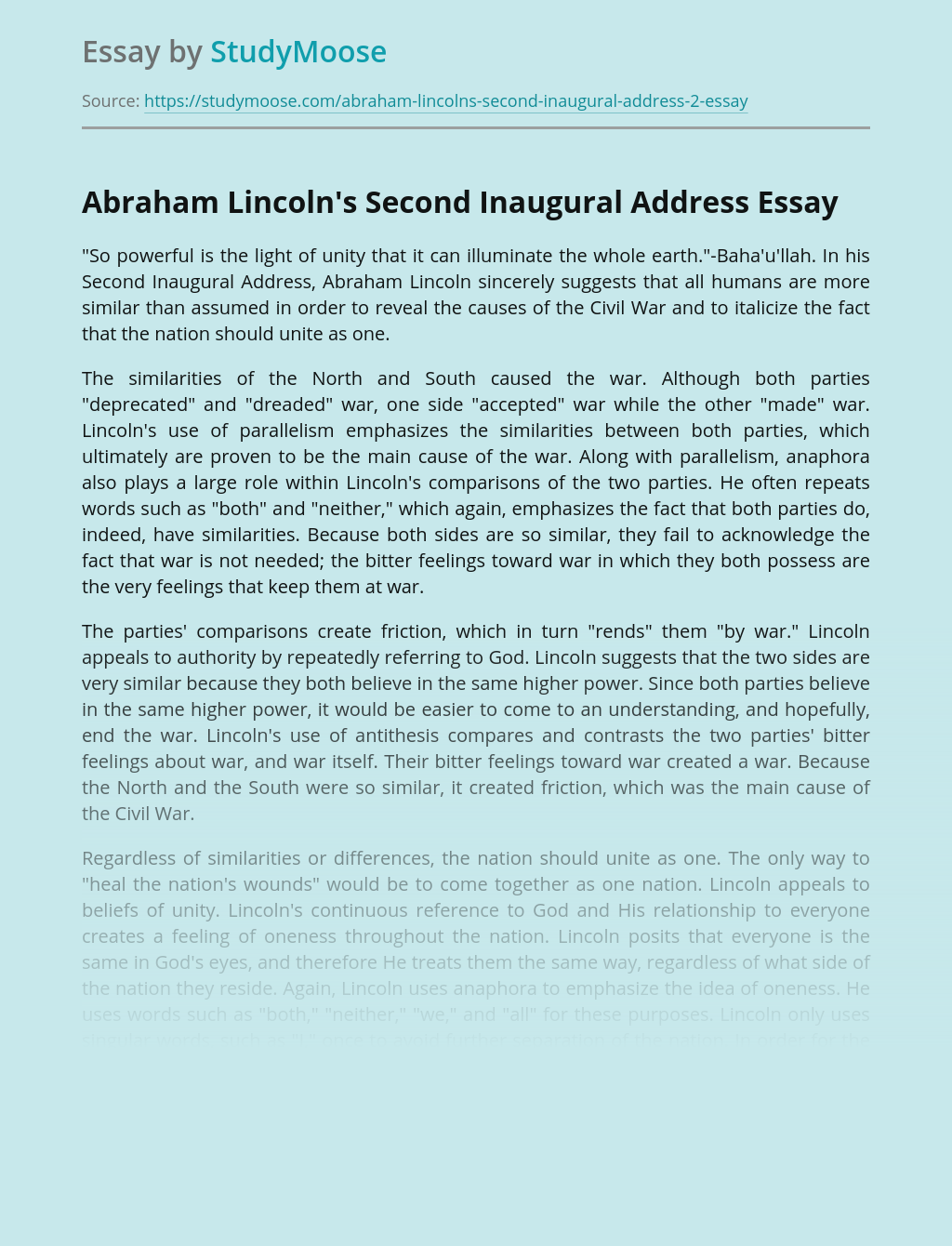 Top reflective essay on lincoln resume management software