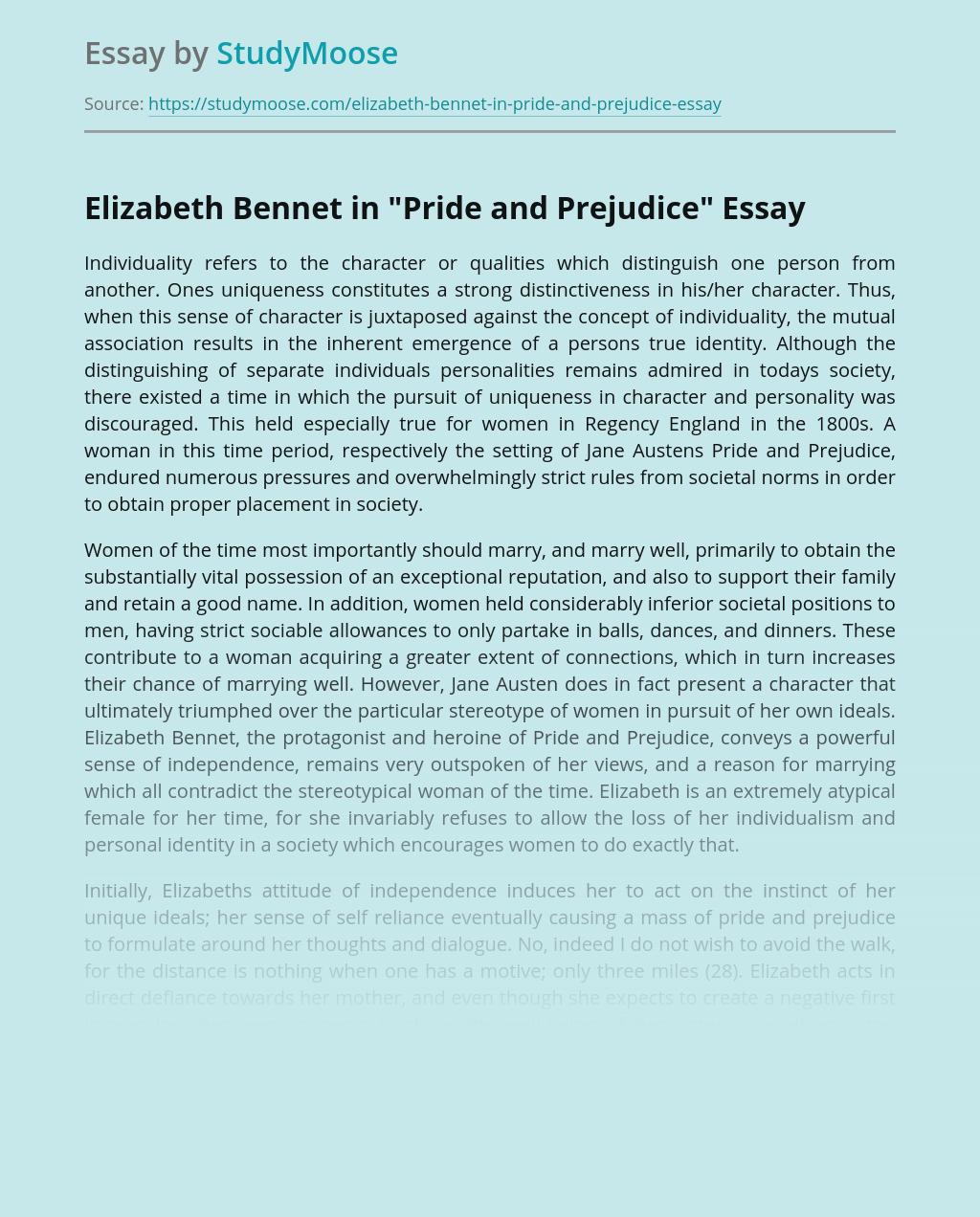 "Elizabeth Bennet in ""Pride and Prejudice"""