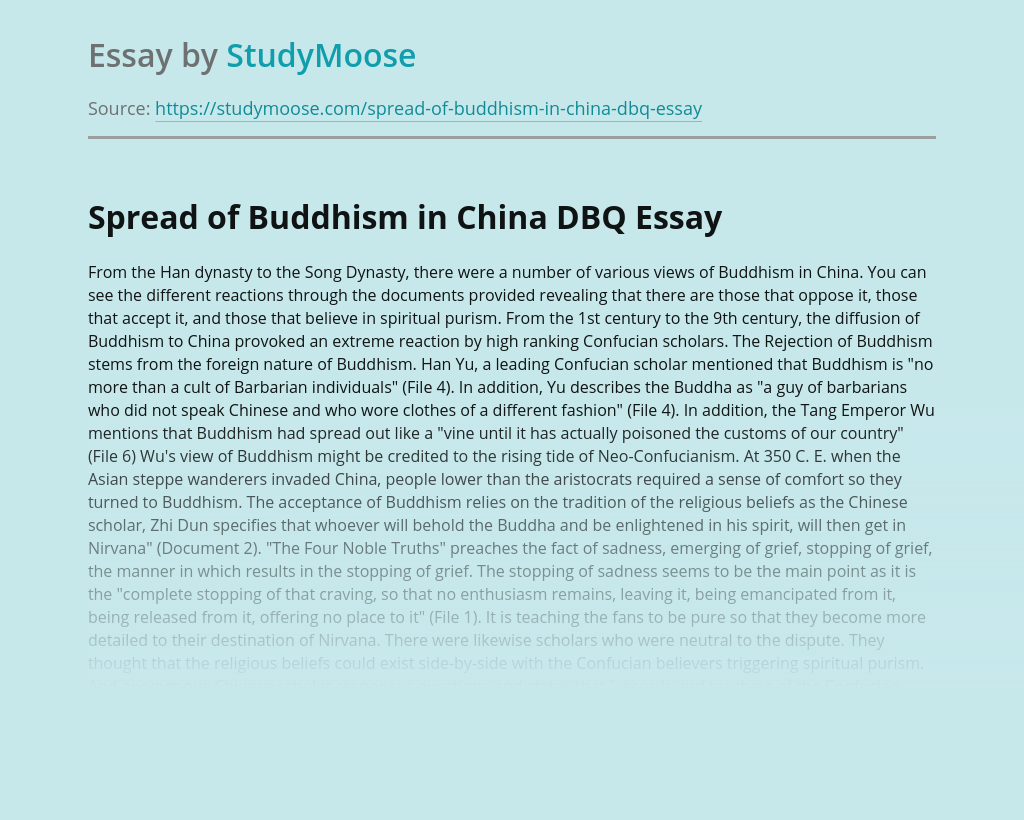 Essay buddhism in china dbq sample business plan private equity
