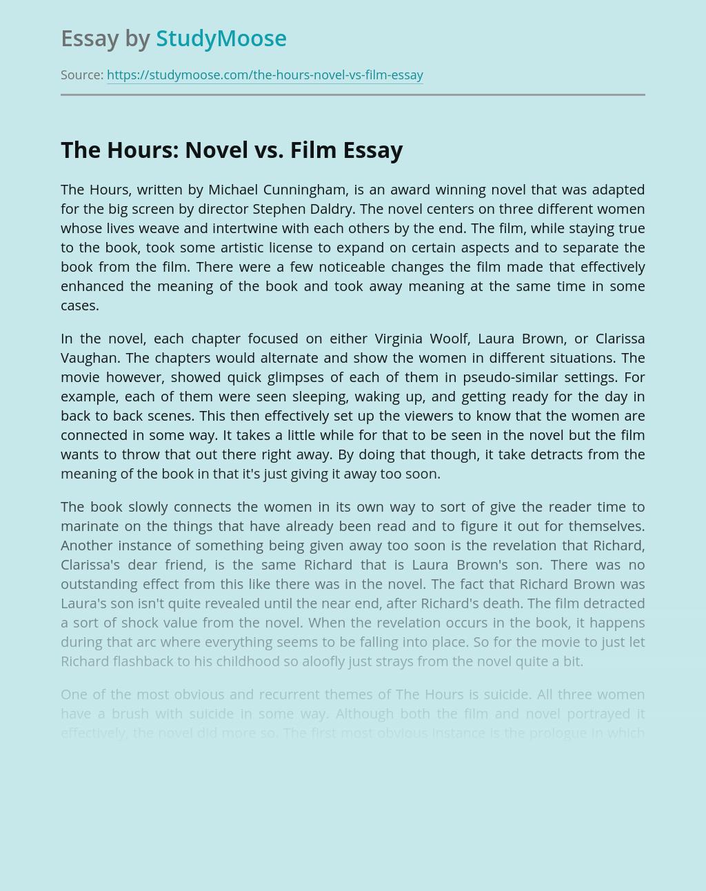 The Hours: Novel vs. Film