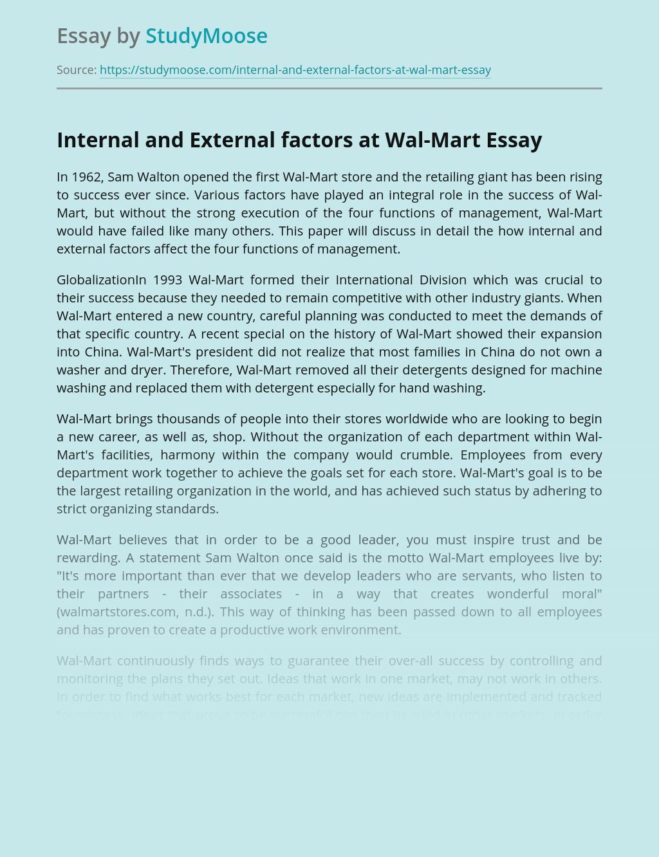 Internal and External Factors at Wal-Mart