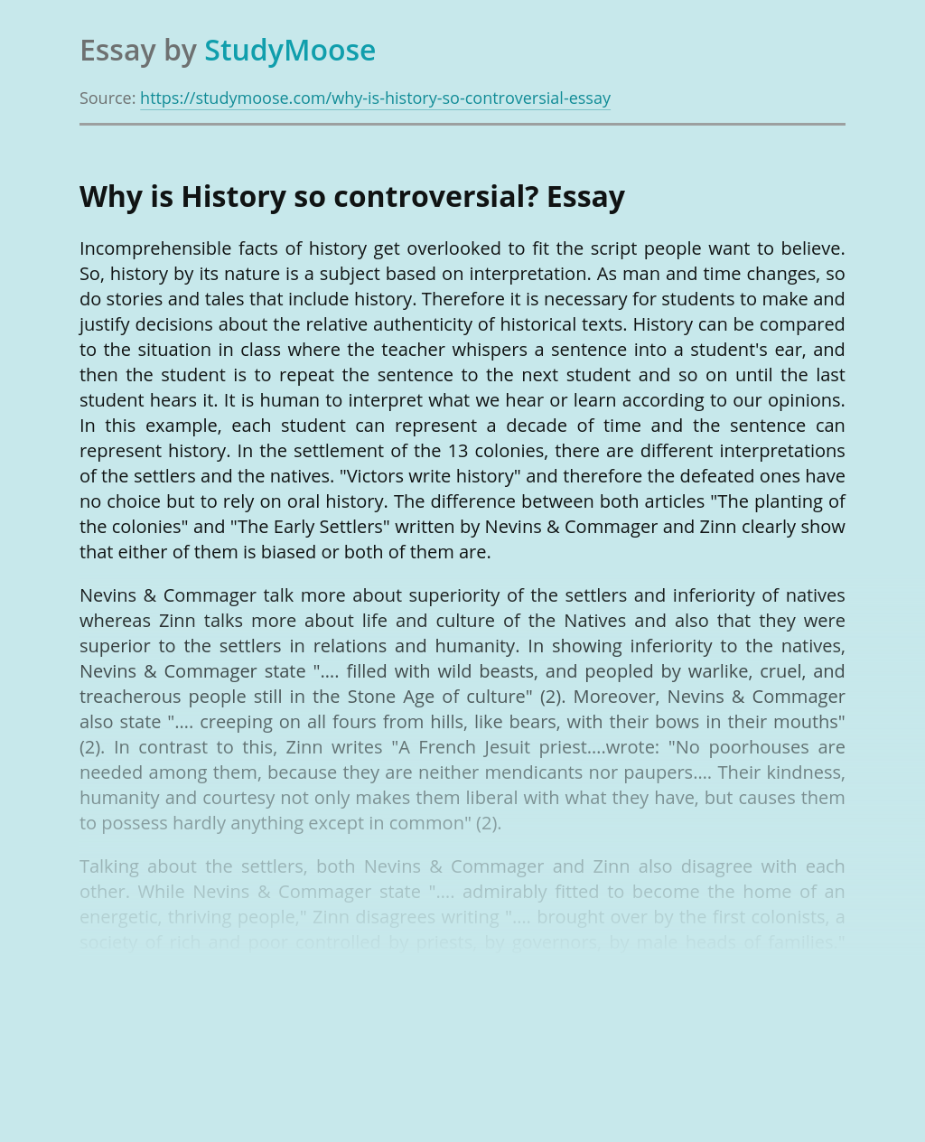 Why is History so controversial?