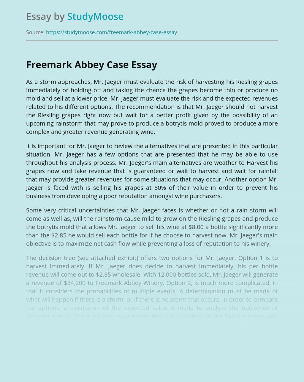 Freemark Abbey Case