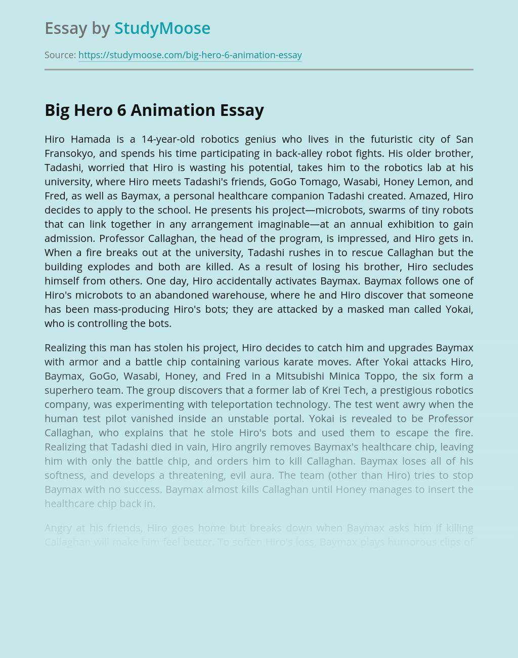 Big Hero 6 Animation