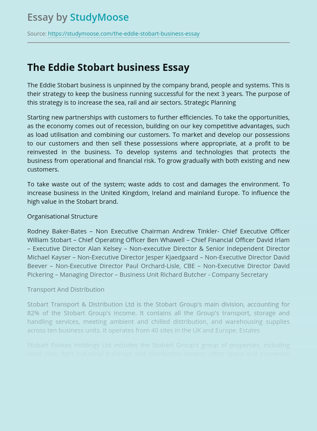 The Eddie Stobart business