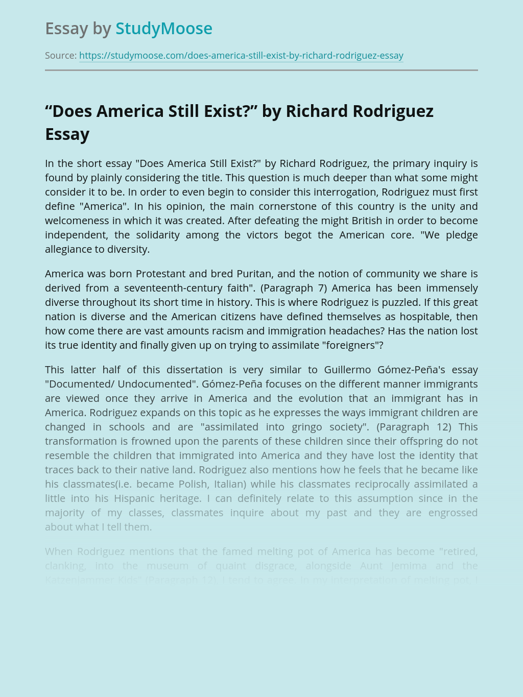"""""""Does America Still Exist?"""" by Richard Rodriguez"""