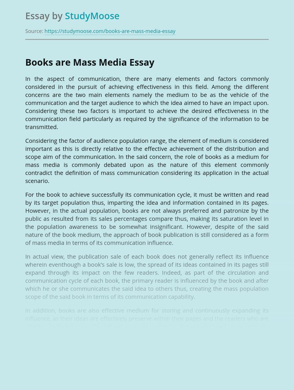Books are Mass Media