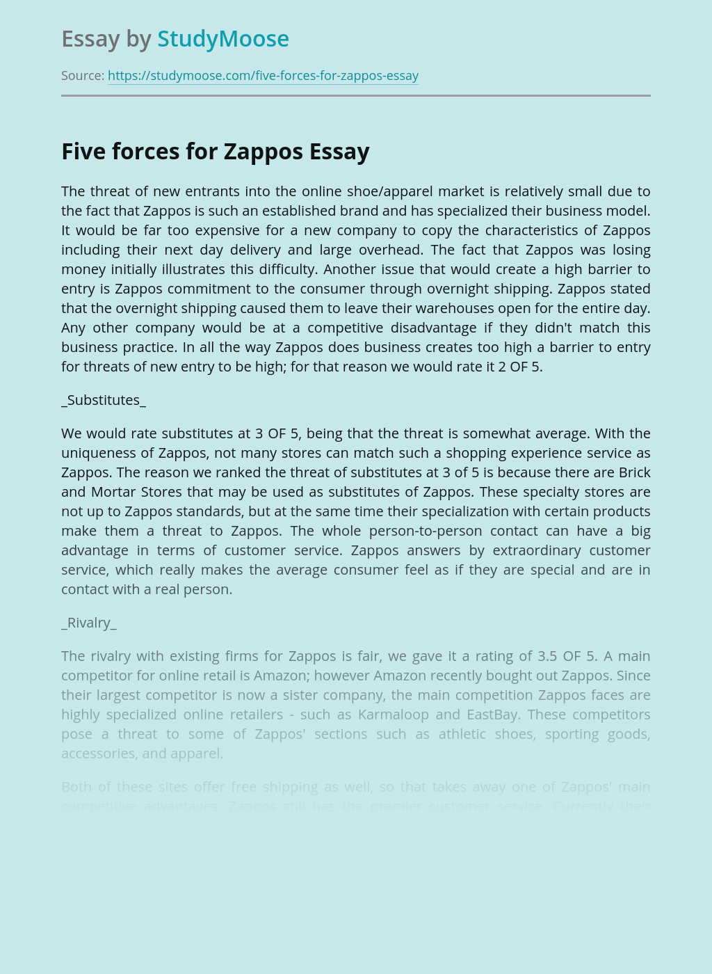 Zappos Marketing Analysis