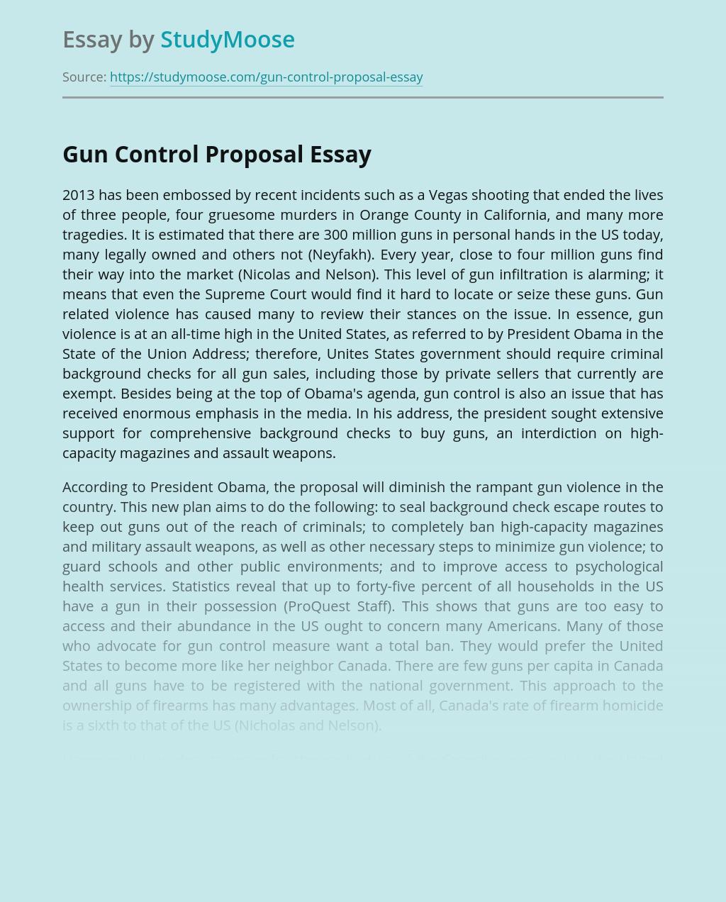 Gun Control Proposal