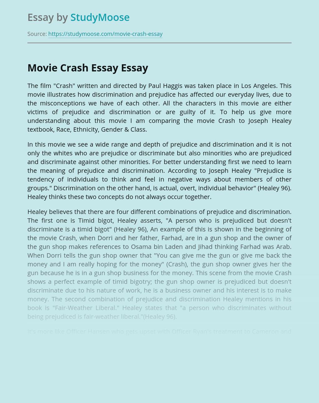 Movie Crash Essay