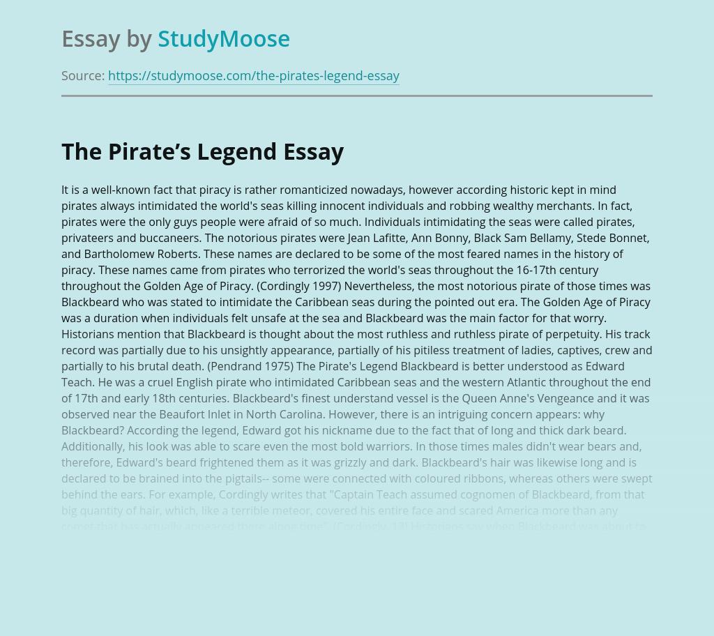 The Pirate's Legend