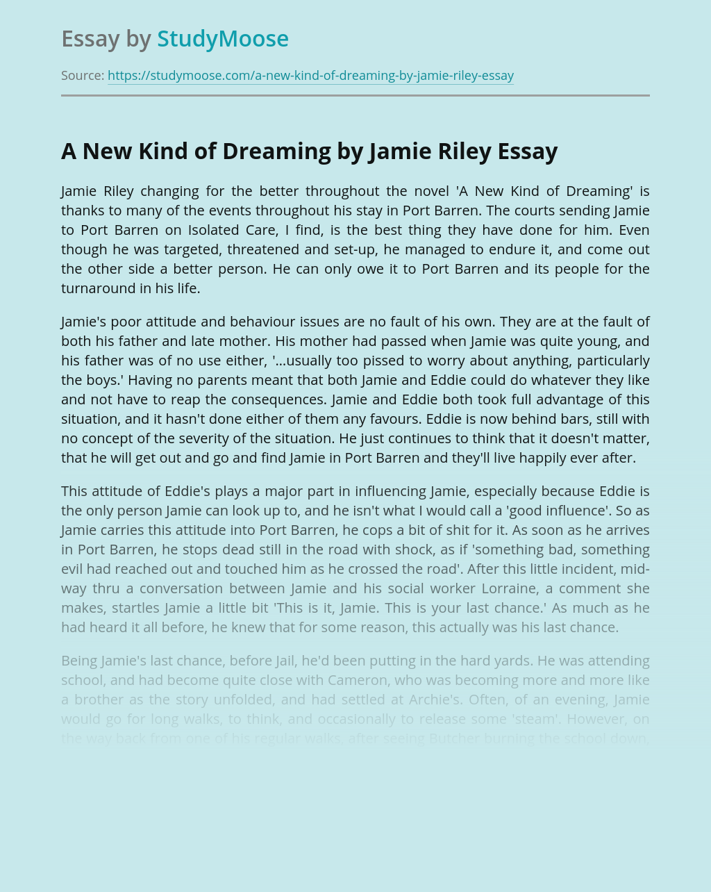 A New Kind of Dreaming by Jamie Riley