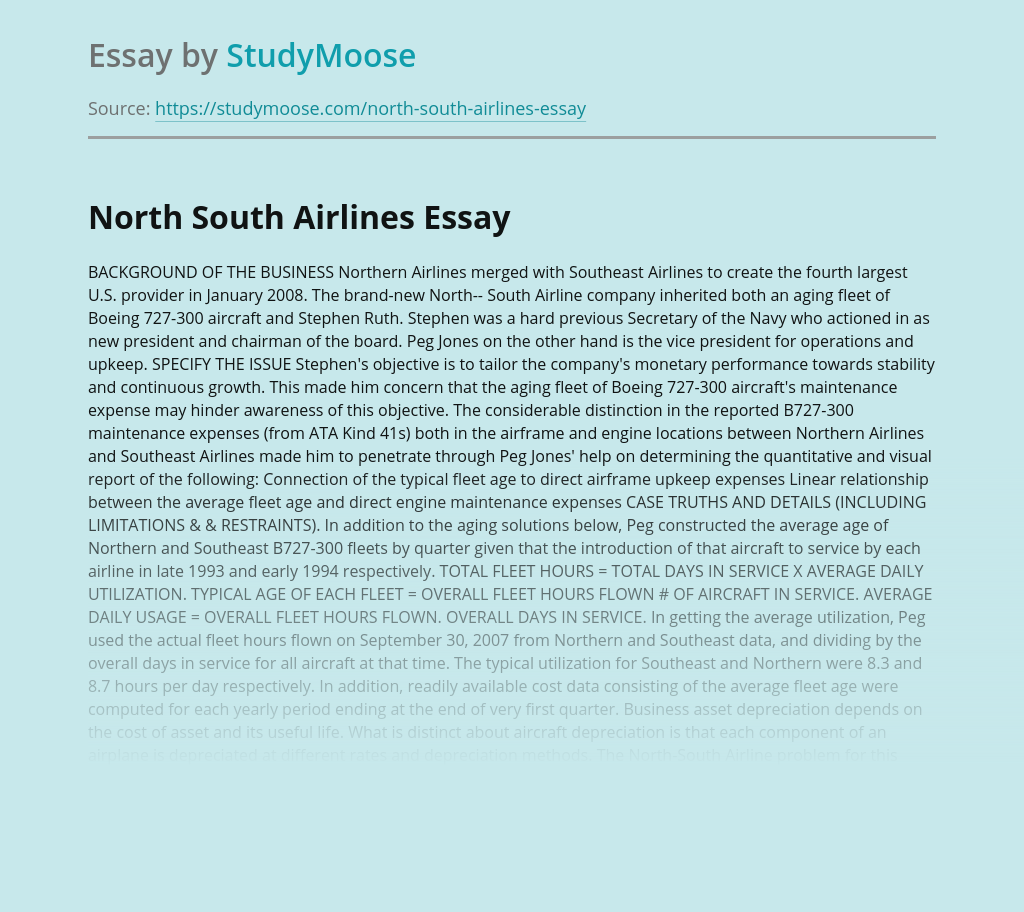 North-South Airline Company Review