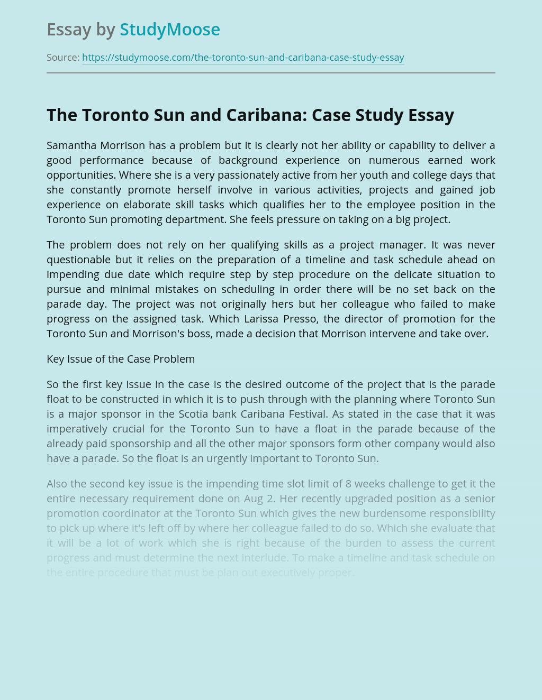 The Toronto Sun and Caribana: Case Study