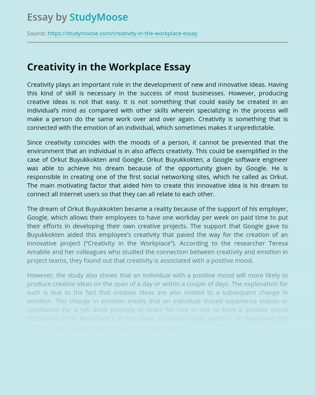 College Essay Series: Writing the Creativity Essay (UC Prompt #2)
