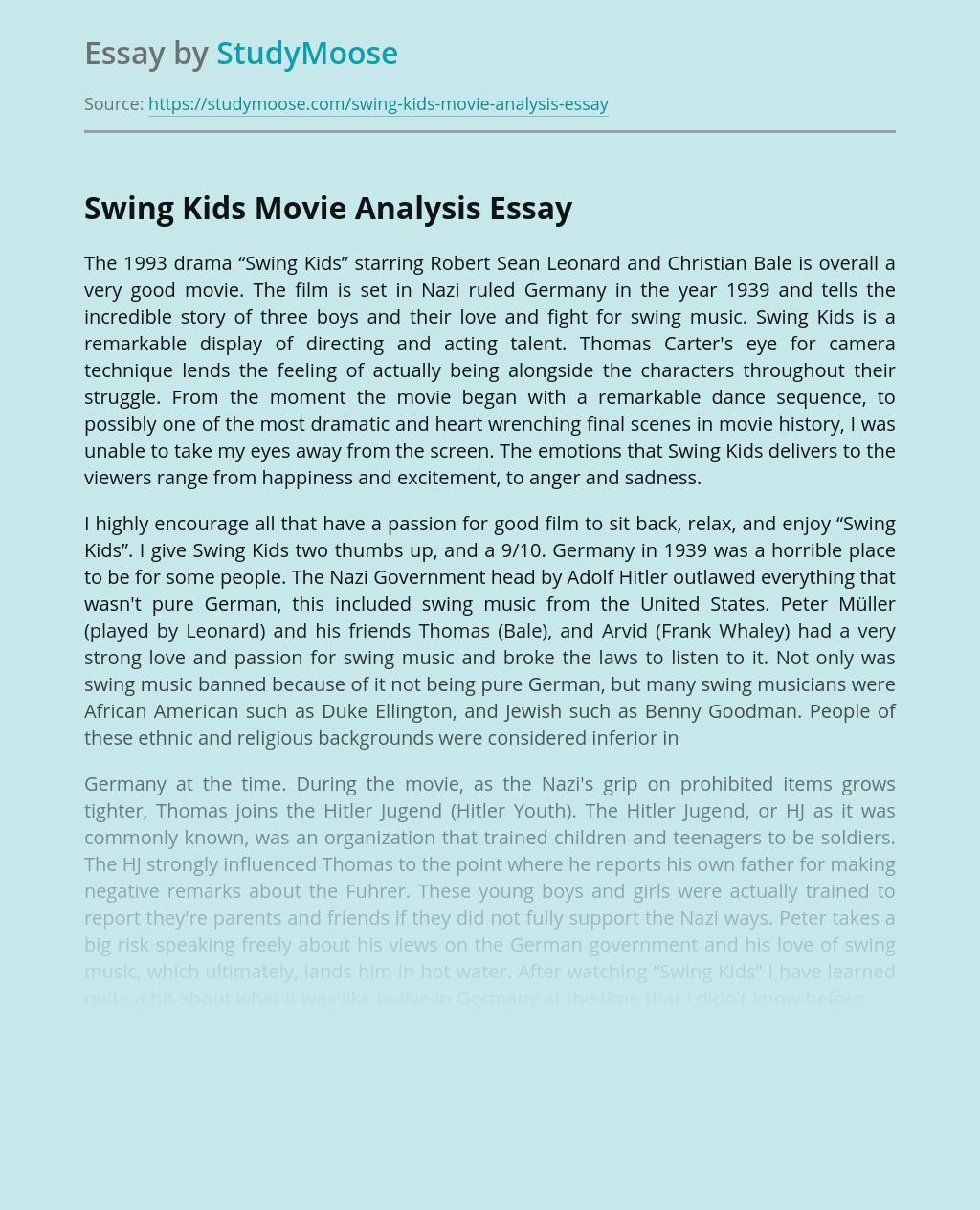 "The 1993 drama ""Swing Kids"""