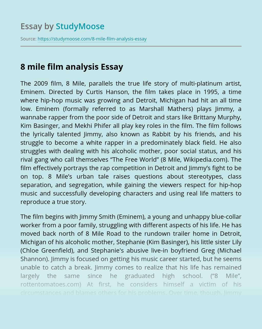8 mile film analysis