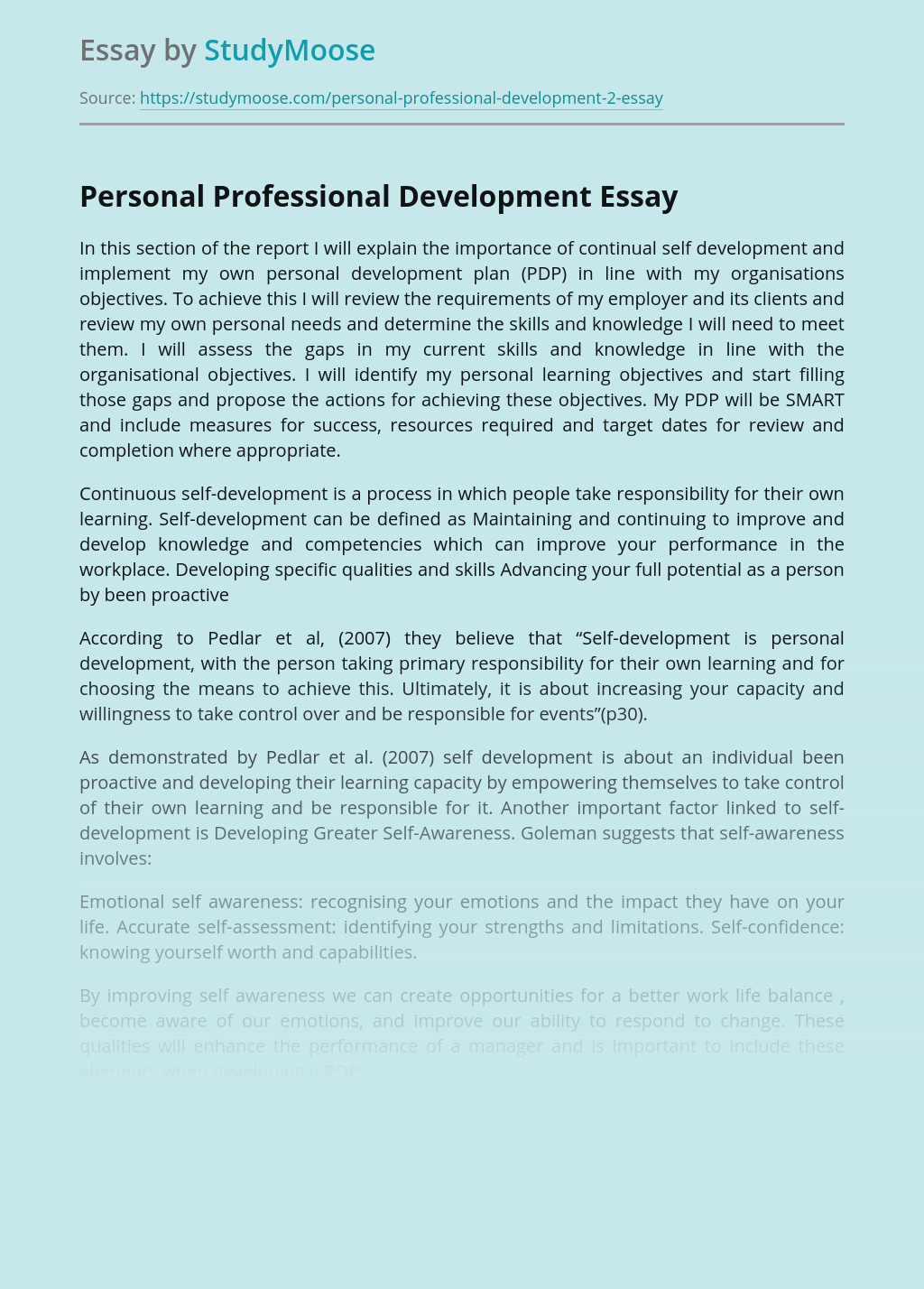 Personal Growth And Development - A Transformational ...