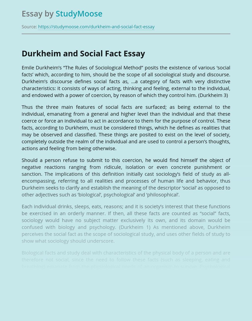 Society in Durkheim's The Rules of Sociological Method