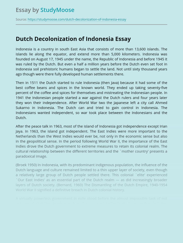 Dutch Decolonization of Indonesia