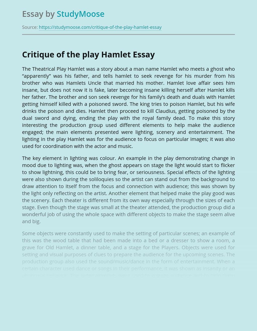 Critique of the play Hamlet