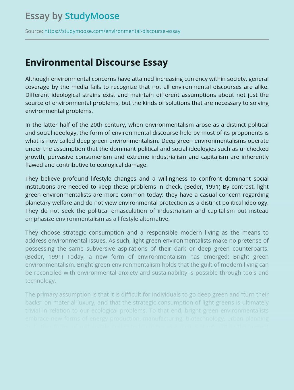 Environmental Discourse