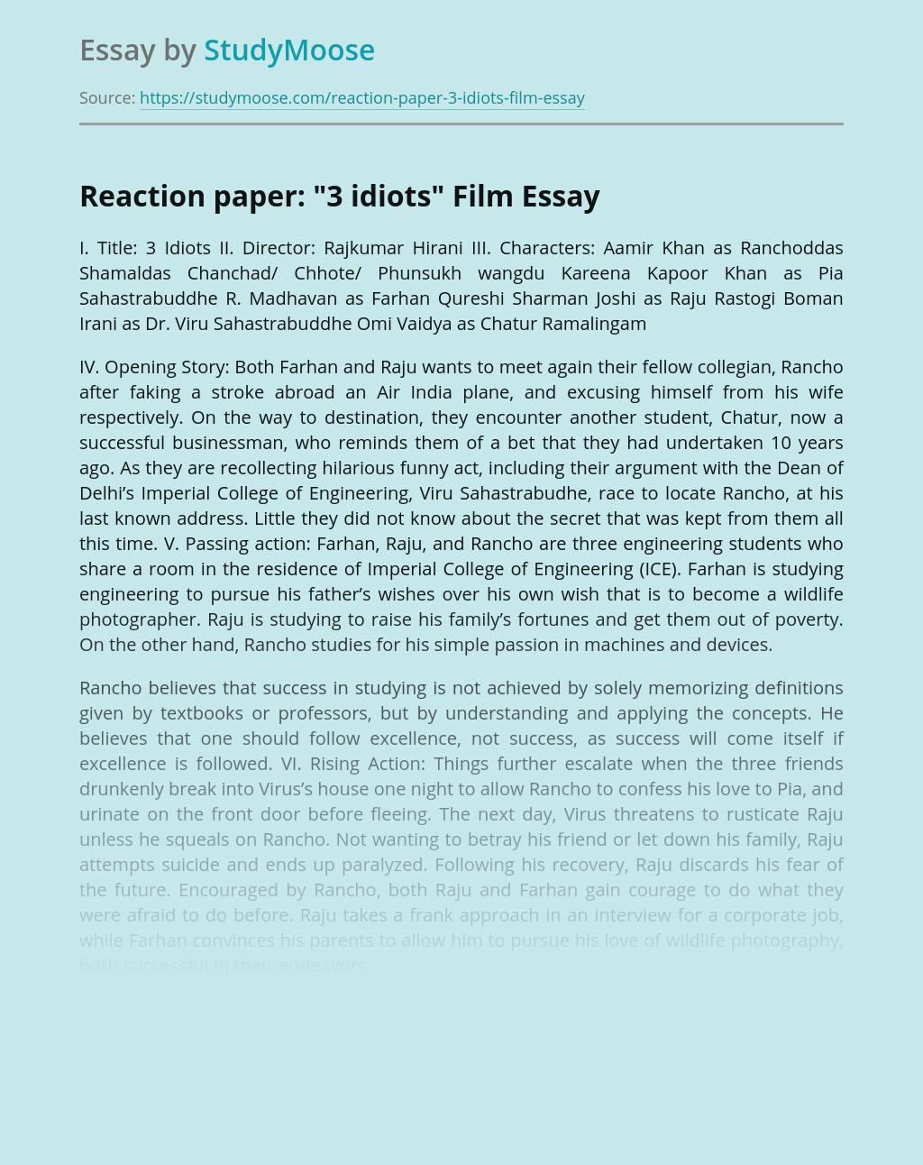 Reaction paper: