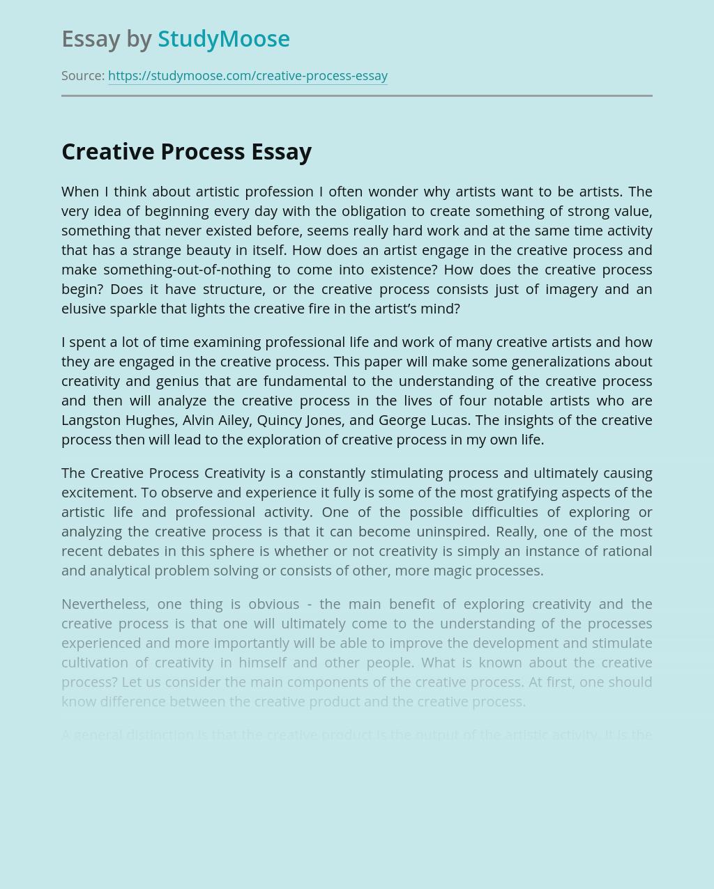 Artists' Creative Process