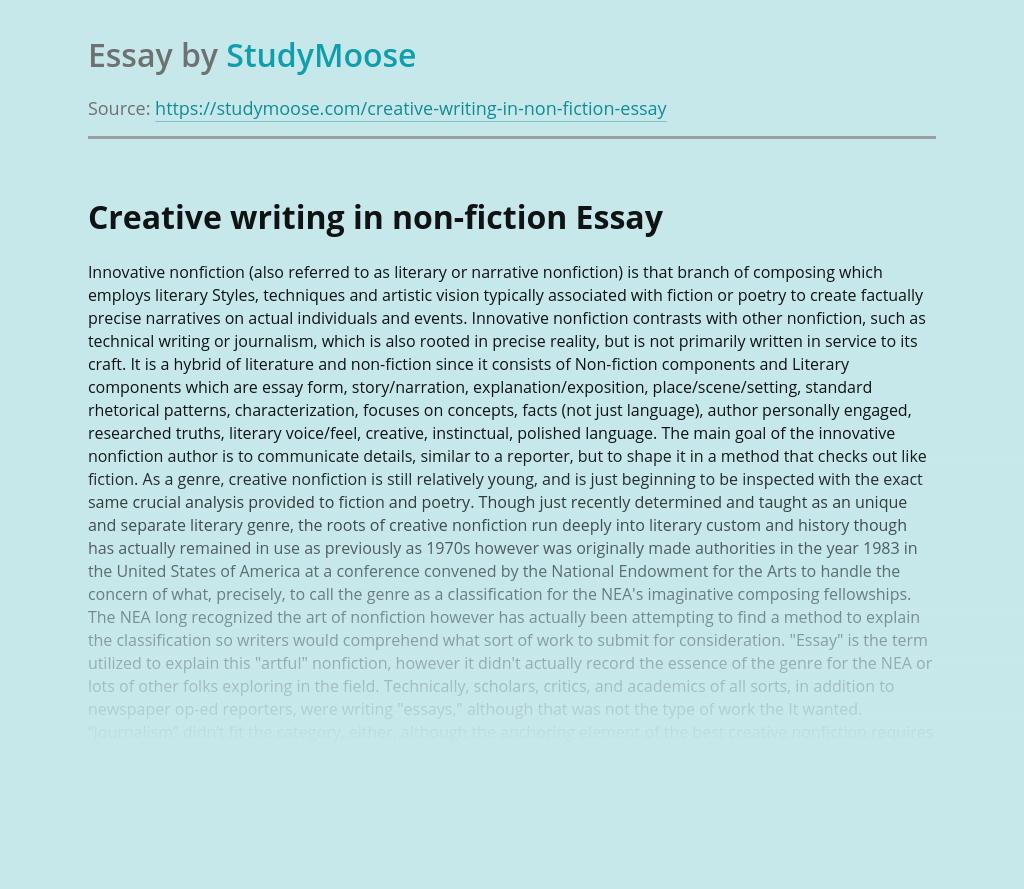 narrative nonfiction essay structure