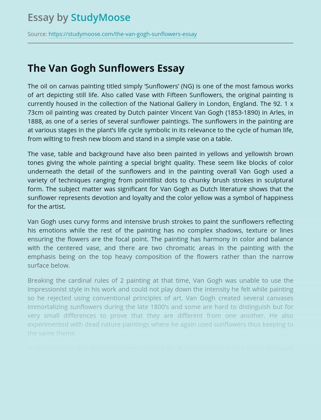 The Van Gogh Sunflowers