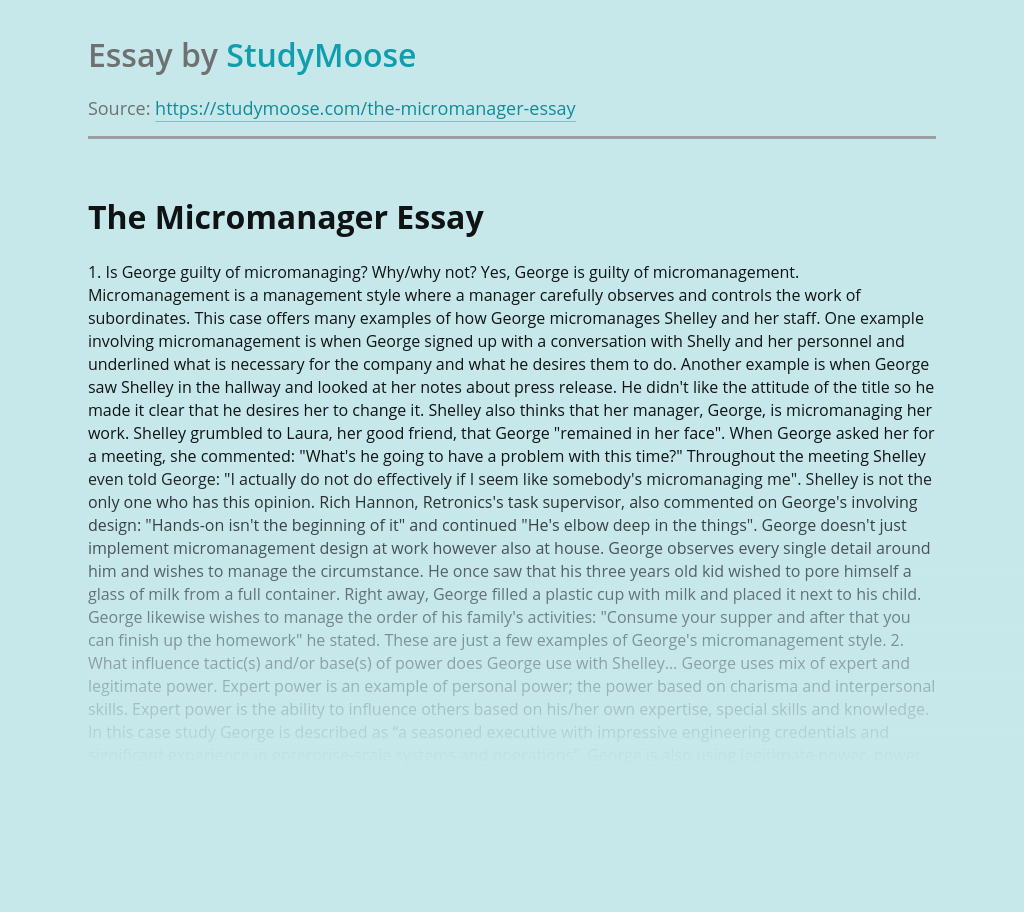 The Micromanager