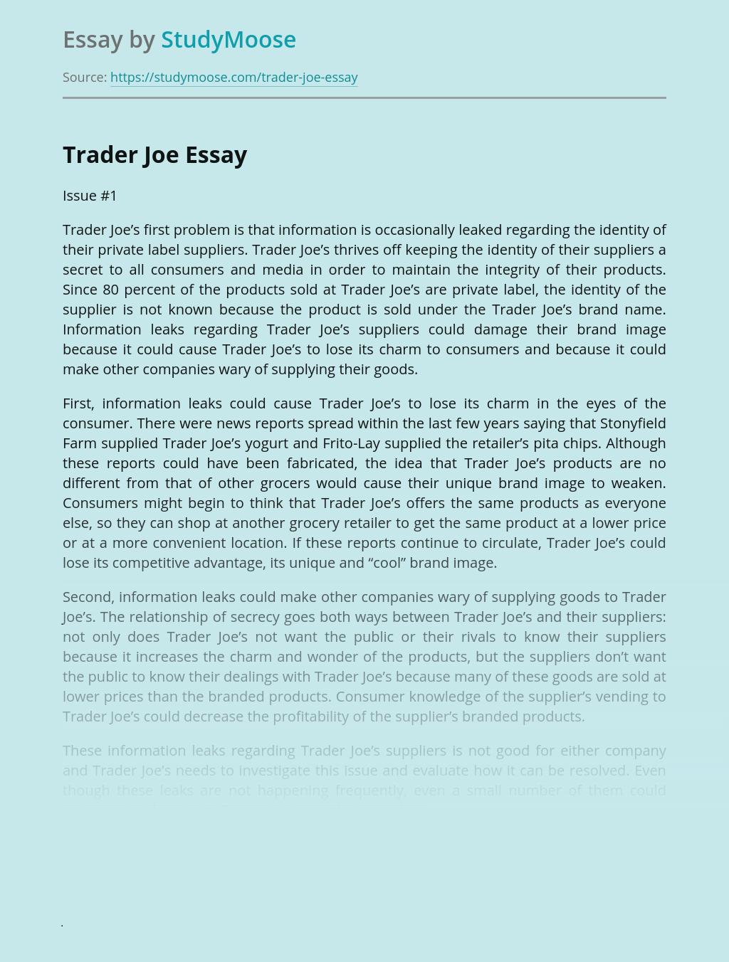 Trader Joe's Company Analysis
