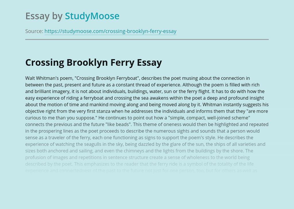 Crossing Brooklyn Ferry