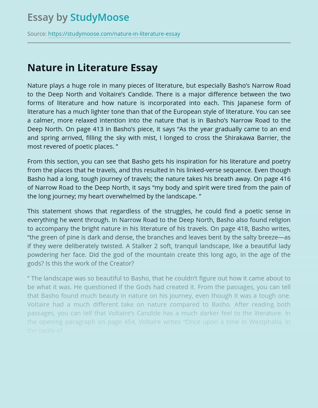 Nature in Literature