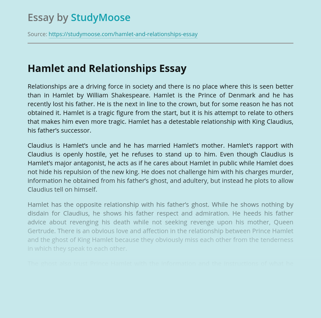Hamlet and Relationships