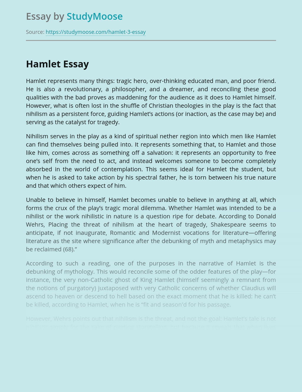 Hamlet Analysis: Characters, Themes, Main Conflicts