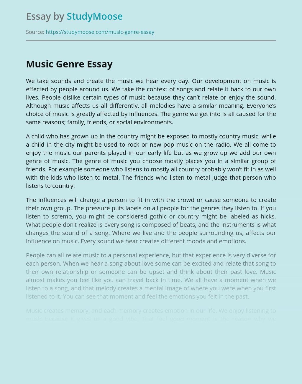 Favorite song essay