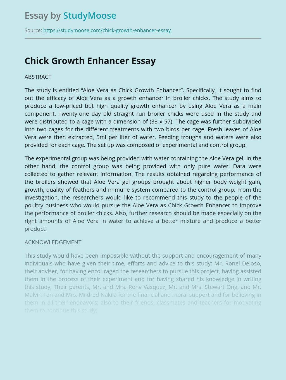 Chick Growth Enhancer