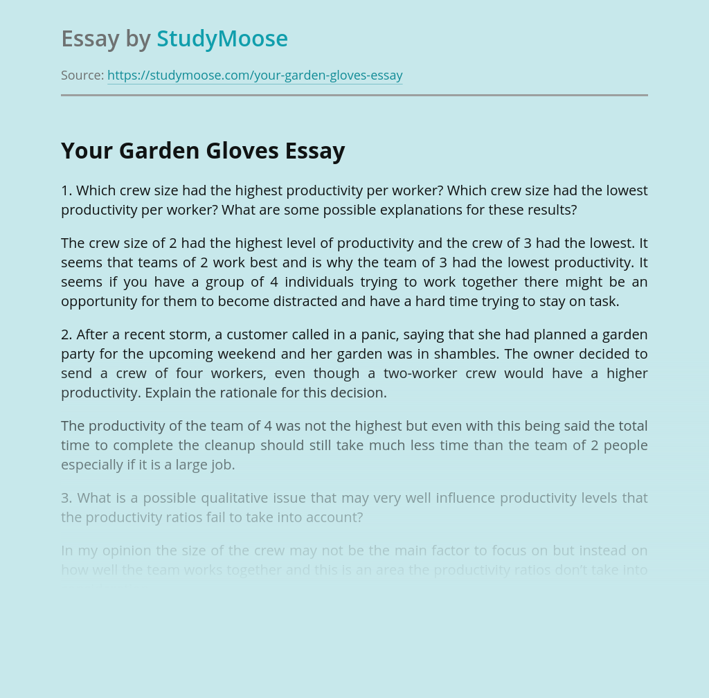 Your Garden Gloves