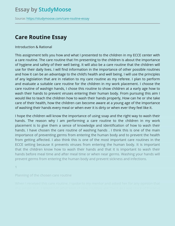 Care Routine
