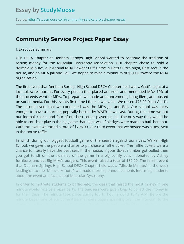 Community Service Project Paper