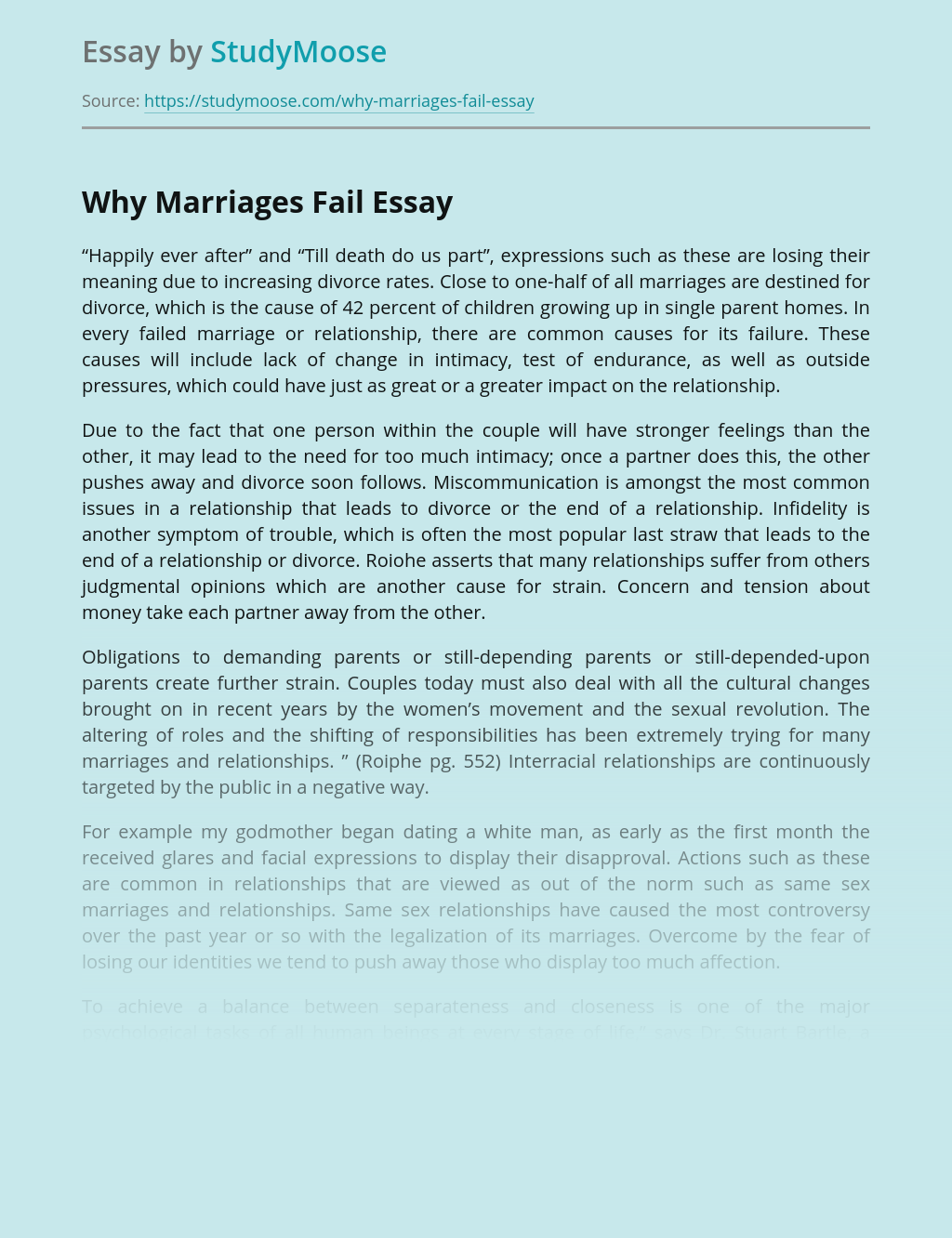 Why marriages fail | blogger.com