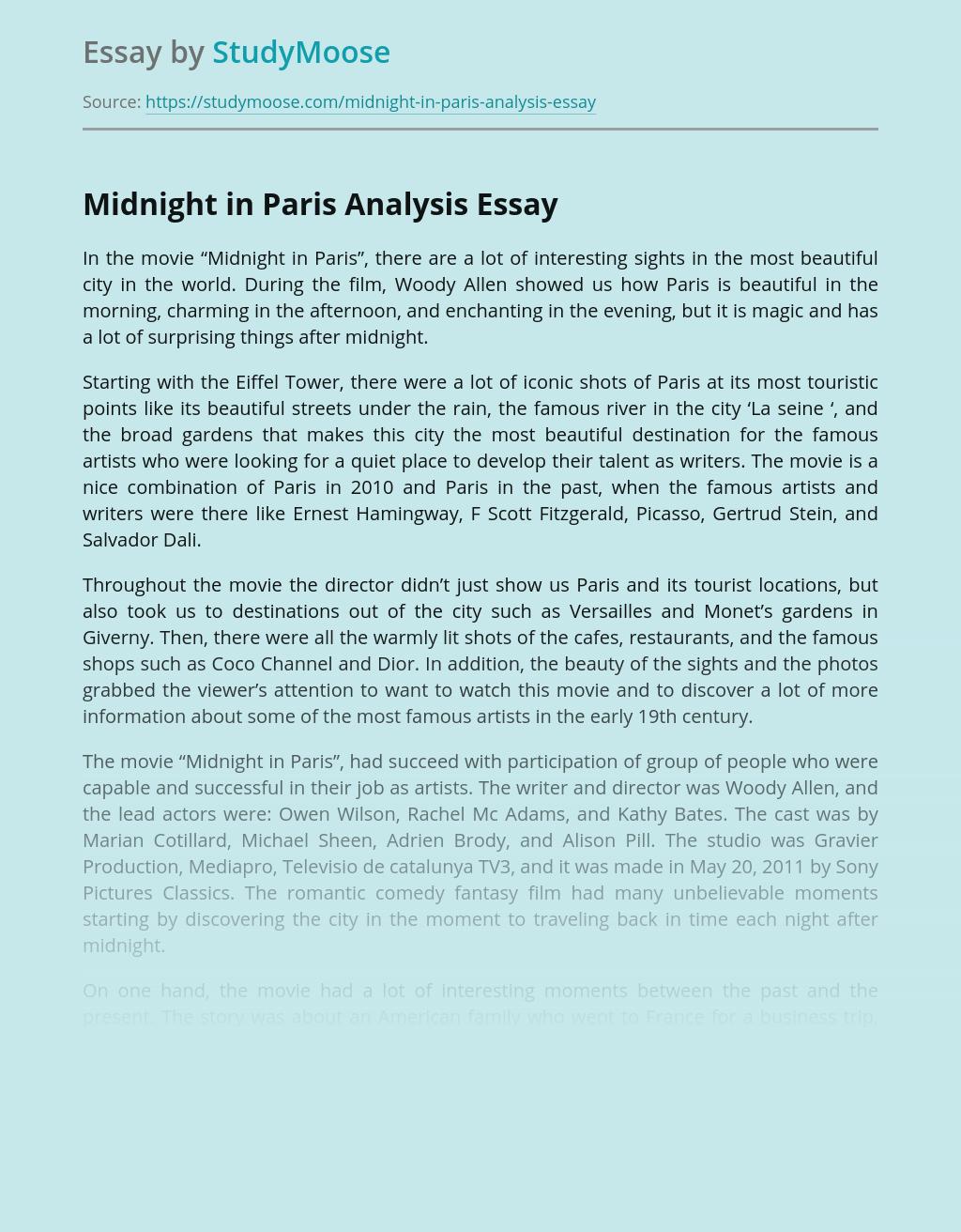 Midnight in Paris Analysis