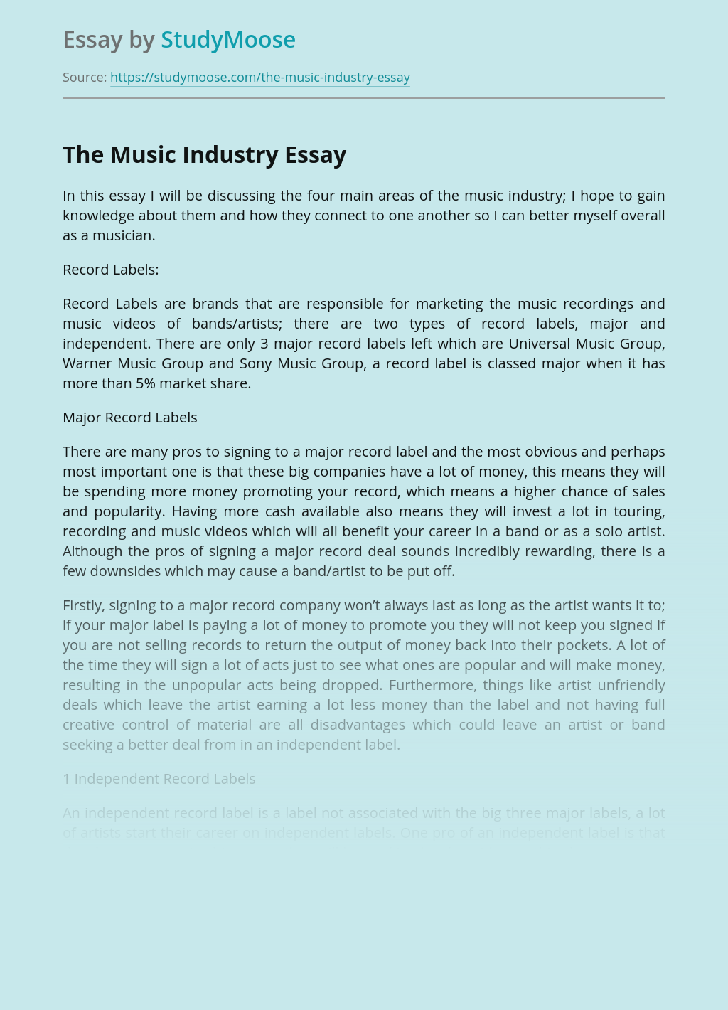 The Music Industry
